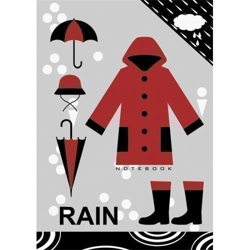 Фото - Книга для записей Мода и стиль. Очарование дождя А6, в клетку книга для записей 80 листов романтика кошки а6 кзф6801279