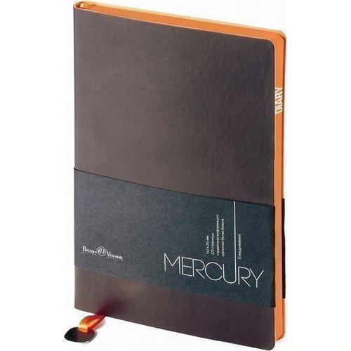 Фото - Ежедневник недатированный Mercury А5 коричневый ежедневник недатированный mercury сиреневый а5