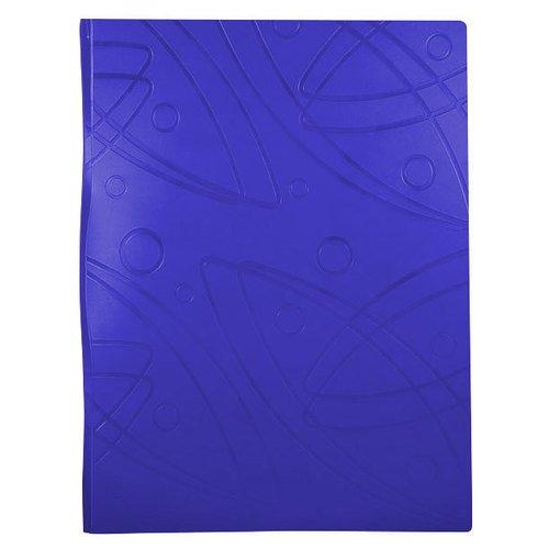 Папка с 20 прозрачными вкладышами Galaxy А4 синяя папка скоросшиватель с европланкой ф а4 синяя