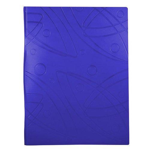 "Папка с металлическим зажимом ""Galaxy"" А4 синяя цена и фото"