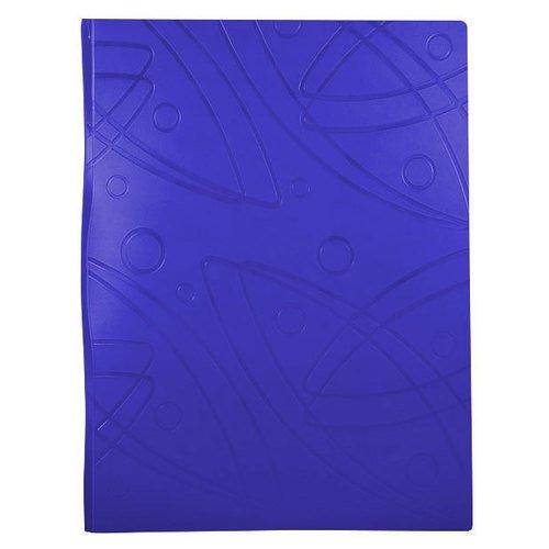 Папка с 40 прозрачными вкладышами Galaxy А4 синяя папка скоросшиватель с европланкой ф а4 синяя