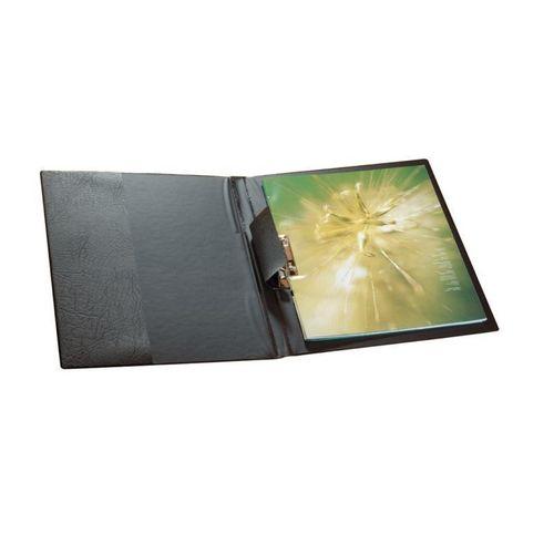 Папка с прижимным механизмом и боковым карманом А4 черная yuzhe studios черная рубашка с контрастным карманом rushmore