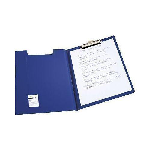 Папка с верхним зажимом А4 темно-синяя папка luxe синяя