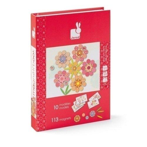 """цены Большая магнитная книга-игра """"Цветы"""""""