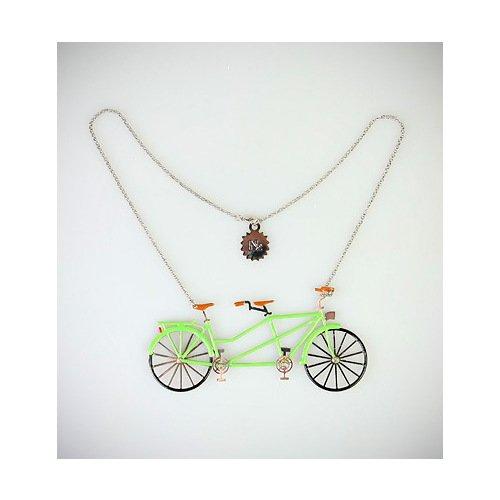 """Колье """"Велосипеды"""", зеленое"""