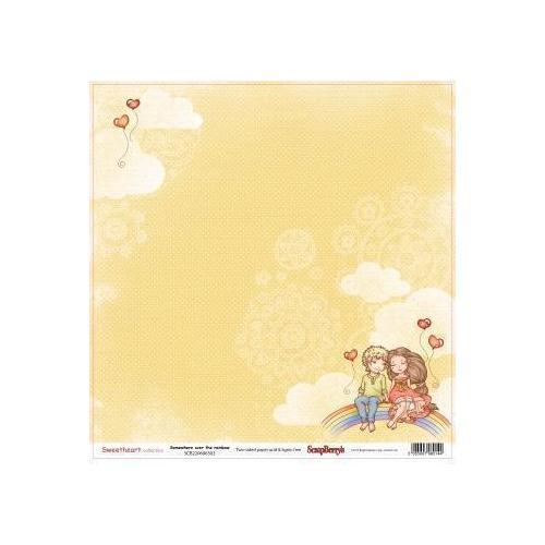 Бумага для скрапбукинга Мальчик и девочка. Верхом на радуге бумага для скрапбукинга двусторонняя basic grey capri