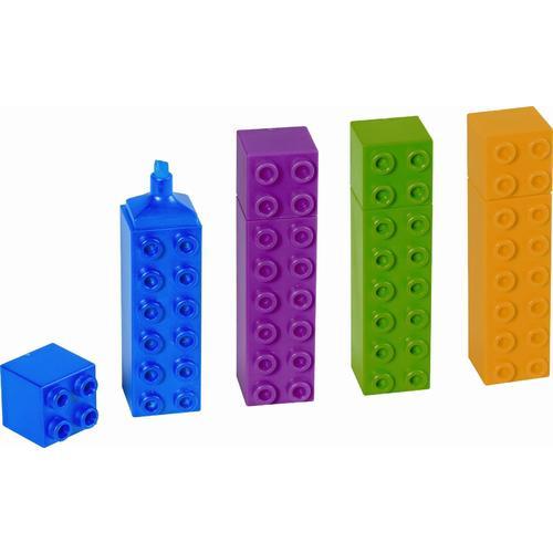 """Текстовыделители """"Лего"""", 4 цвета стоимость"""