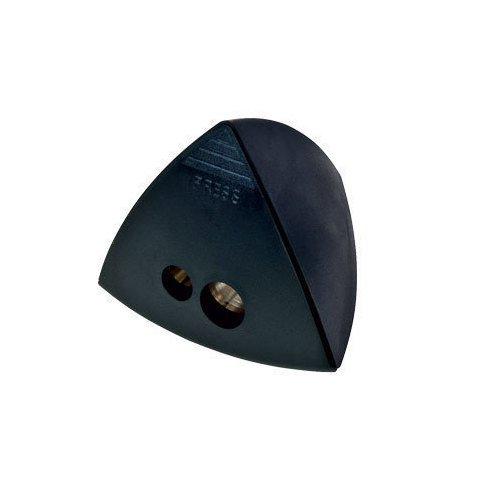 Точилка для карандашей треугольная, двойная, черная brunnen точилка двойная компьютерная мышь цвет сиреневый