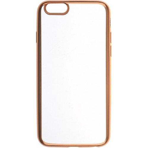 """все цены на Накладка для iPhone 6/6S """"Silicone chrome border 4People"""", золотистая онлайн"""