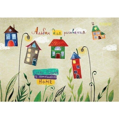 игровые домики Альбом для рисования Домики А4