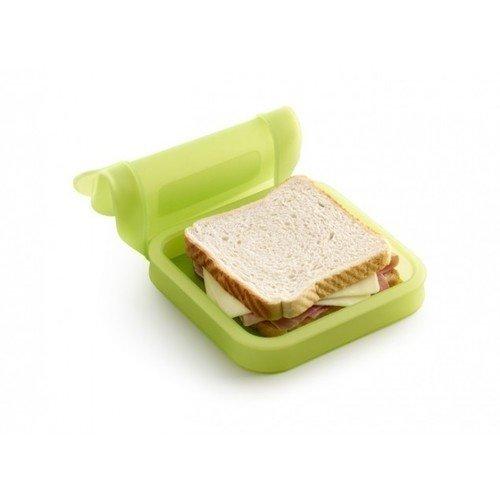 лучшая цена Бутербродница силиконовая, салатовая