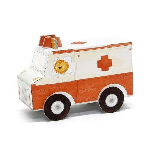 Игрушка из картона Скорая помощь krooom игрушки из картона 3d набор сказочное дерево k 327