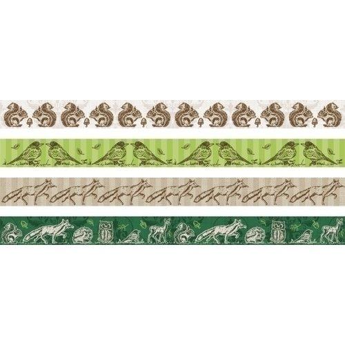 Набор декоративных клеевых лент, 4 вида, 15 мм х 5 м наклейка