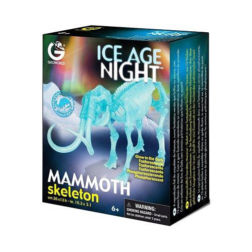 Сборная модель светящаяся Скелет Мамонта CL597K geoworld сборная модель скелет саблезубого тигра