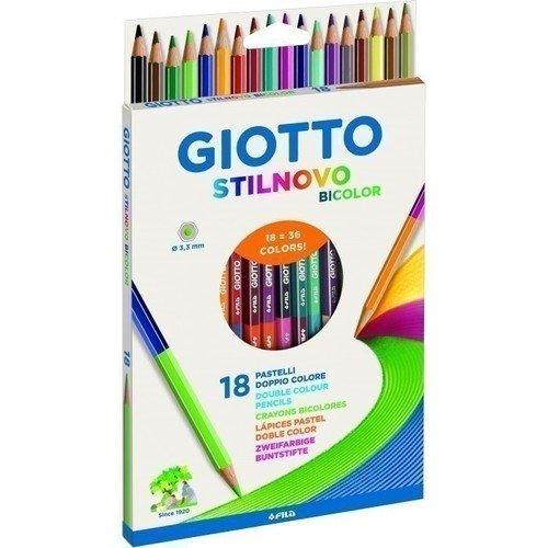 Цветные двусторонние гексагональные карандаши Stilnovo Bicolor карандаши восковые мелки пастель giotto stilnovo bicolor ast гексагональные 12 шт 24 цвета