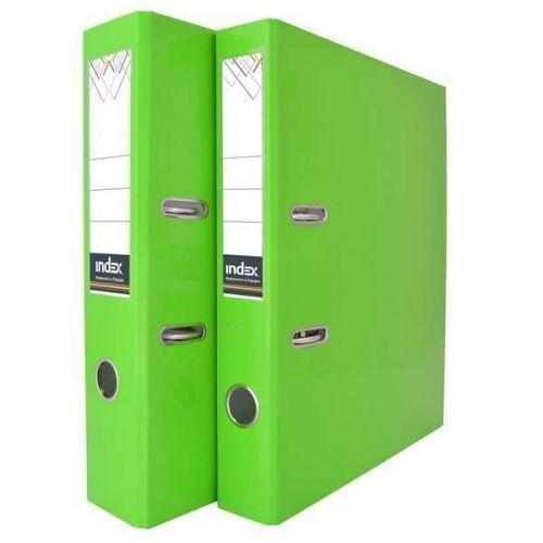 лучшая цена Папка-регистратор ламинированная неоновая зеленая