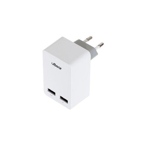 Сетевое зарядное устройство WC02WH01-AD Dual USB Wall Charger 3.4А белое bc09b wireless bluetooth dual usb car charger black silver