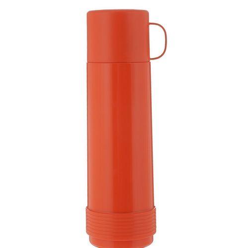 Термос со стеклянной колбой 6128/52, 1 л, оранжевый термос laplaya traditional 35 темно зеленый 1 8 л