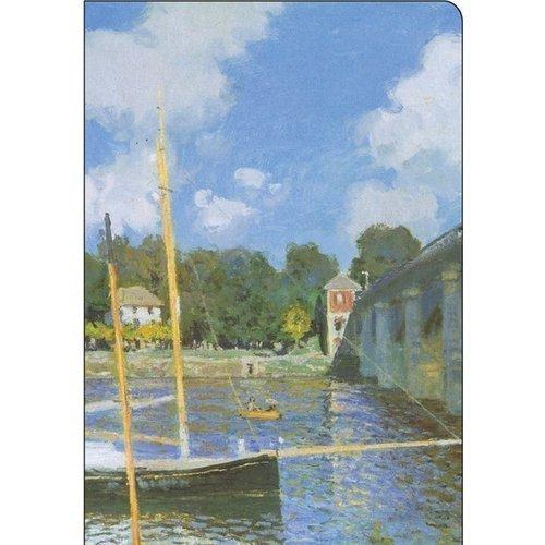 Тетрадь Monet, в клетку, на скрепке серьги monet