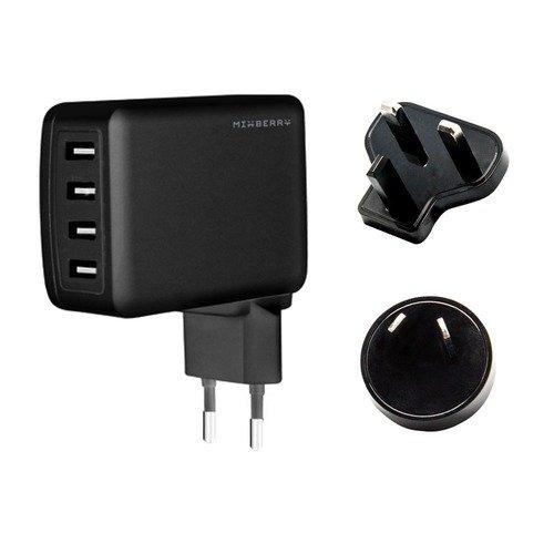 Зарядное устройство Мulty port 4 USB 4.8A черное зарядное устройство merlin 6 port usb charging station