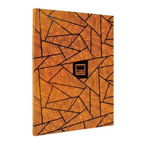 """Блокнот """"Неон"""" А4, 40 листов, в линейку, оранжевый"""
