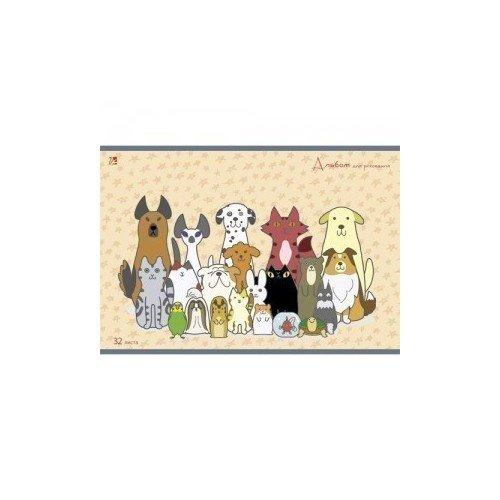 Альбом для рисования Домашние любимцы принадлежности для рисования спейс альбом для рисования авто яркие внедорожники 24 листа