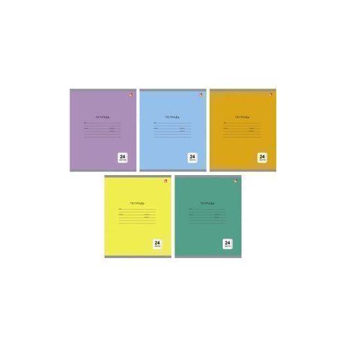 Тетрадь Однотонная серия А5, 12 листов, в линейку, ассортименте