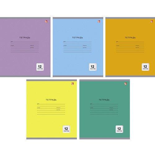Тетрадь в клетку А5 однотонная серия тетрадь любимые цвета а5