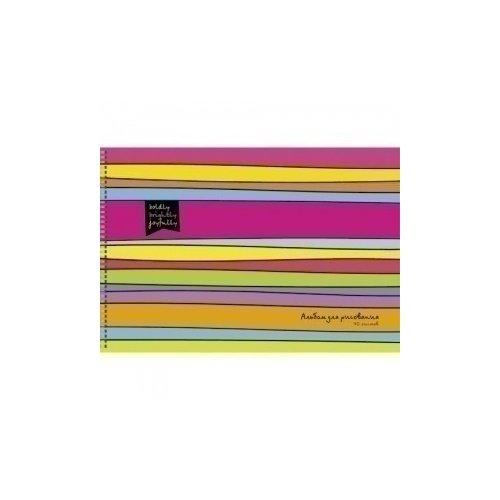 Альбом для рисования Цветные полоски А4 бризрайт полоски для расширения носовых ходов 30 телесные