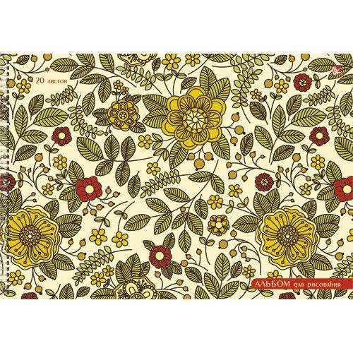 Альбом для рисования Цветочная поляна А4 альбом для черчения hatber архитектура 20 листов формат а4