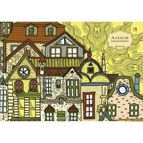 игровые домики Альбом для рисования Сказочные домики А4