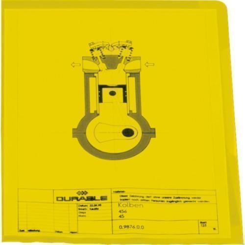 Папка-уголок А4 желтая папка duraclip color а4 желтая
