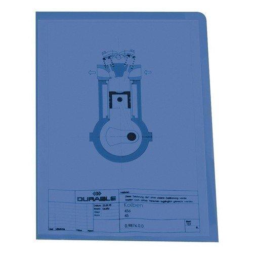 Папка-уголок А4 синяя цена и фото