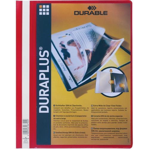 Папка Duraplus А4 красная папка скоросшиватель красная ф а4 с перфорацией ks 320b 01 p