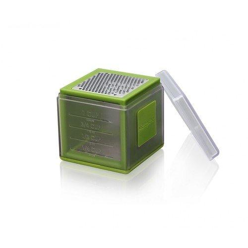 Терка-куб, зеленая терка шестисторонняя 13 13 23см нержавеющая сталь пластик упаковочный пакет