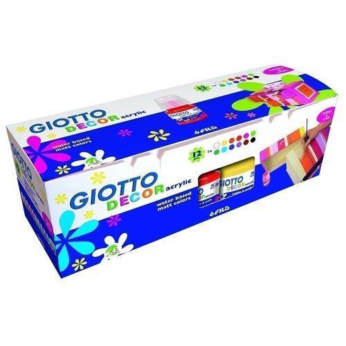 Акриловые краски Decor Acrylic, 12 цветов decola акриловые краски по ткани 12 цветов