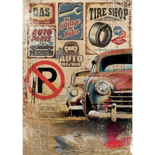 Тетрадь на кольцах Retro Cars А5, в клетку hatber тетрадь на кольцах metallic 120 листов в клетку цвет бордовый