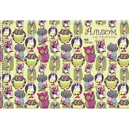 Альбом для рисования Совы А4 reflex альбом для графики mixmedia 30 листов формат a3