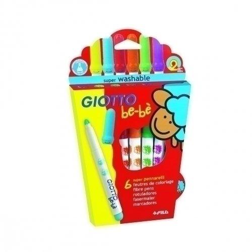Детские фломастеры с толстым стержнем Super Fibre Pens, 6 цветов