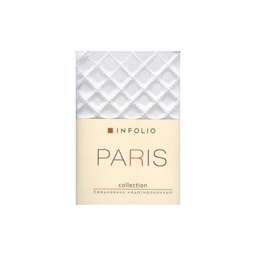 Ежедневник недатированный Paris А6 cream ежедневник на кнопке kawaii factory большой кот лес 112 страниц формат а6