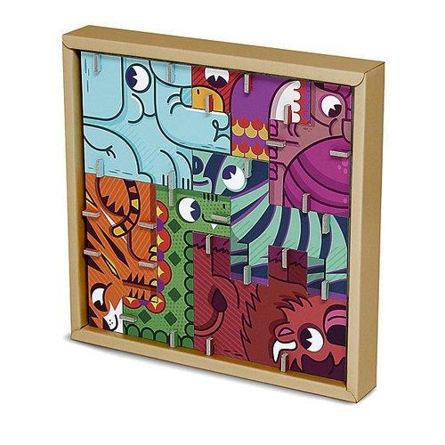 3D пазл-головоломка Сафари krooom игрушки из картона 3d пазл головоломка цирк k 801