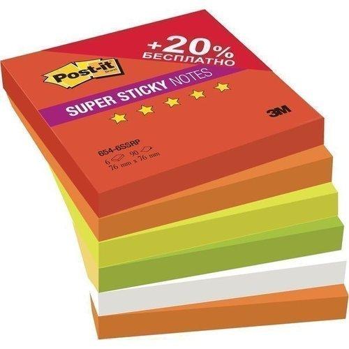 Бумага для заметок с липким слоем Огонь суперклейкая бумага для заметок с липким слоем 76х76 мм розовая пастель 450 л