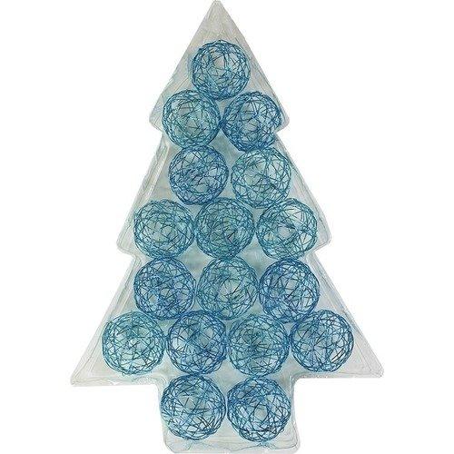 цена Проволочные синие шары, 5 см, 17 шт. онлайн в 2017 году
