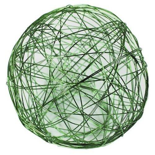 Проволочные зеленые шары, 10 см, 4 шт. набор шаров блестки 4 шт в картонной коробке 7 см 4 цв