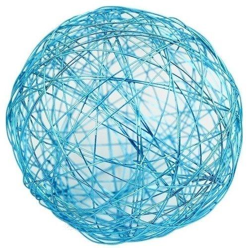 Проволочные синие шары, 10 см, 4 шт. набор шаров блестки 4 шт в картонной коробке 7 см 4 цв