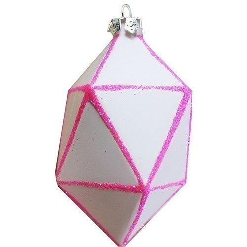 "цена на Елочное украшение ""Кристалл"", розовое"