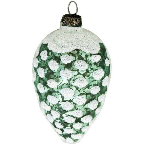 """Елочное украшение """"Шишка"""", зеленое ёлочная игрушка шарик с собаками большой"""