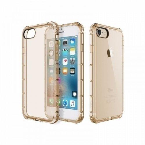 "Чехол для iPhone 7 ""Space Fence"", прозрачно-золотистый"