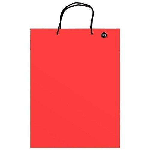 Пакет подарочный красный