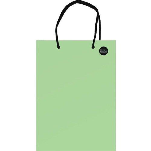 Пакет подарочный А5, светло-зеленый, 20 х 25 см